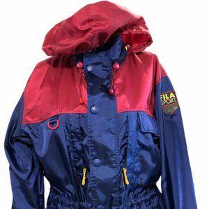 FILA Sport Trekking Coat Winter Jacket 2way Zipper